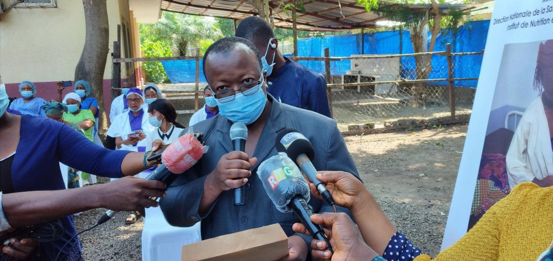Dr Ibrahima Sory DIALLO, Directeur général de l'Institut de Nutrition et de Santé pour Enfants (INSE) de Donka.