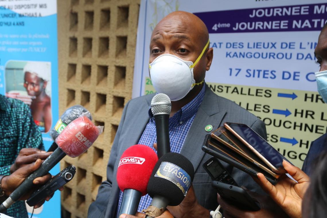 Dr Bachir Kanté, le chargé de Mission au Ministère de la santé représentant le Ministre de la santé